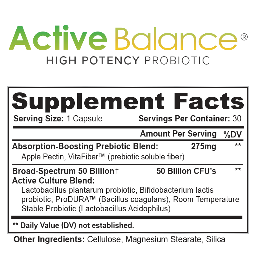 Active Balance Supplement Facts